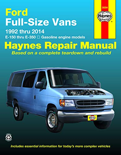 Ford Chassis Parts - Ford Full-Size Vans 1992 thru 2014 E-150 thru E-350 Gasoline engine models (Haynes Repair Manual)