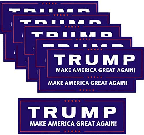 Ryohan Trump 2020 Sticker Keep America Great Bumper Sticker 10Pcs Donald Trump President Stickers Car Decal
