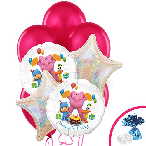Pocoyo Childrens Birthday Party Supplies - Balloon Bouquet Decoration -
