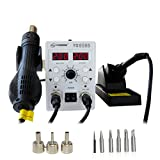 hot air rework station - YAOGONG 8586 rework station Double digital 2 In 1 smd rework soldering station hot air mobile phone repair tools