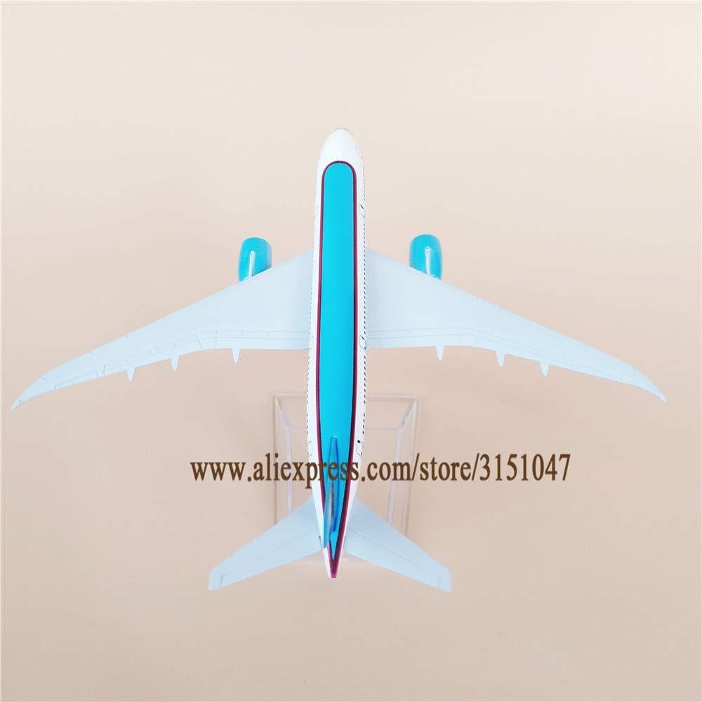 ZAMTAC 16cm Air Uzbekistan Boeing 787 B787 Airlines Plane Model Alloy Metal Diecast Model Airplane Aircraft Airways Kids Gift