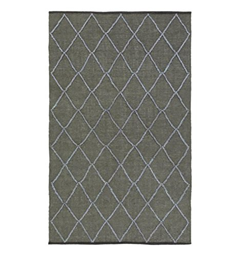 Diva At Home 9' x 13' Nautical Delight Bay Leaf Green and Light Cadet Blue Hand Woven Area Throw Rug ()