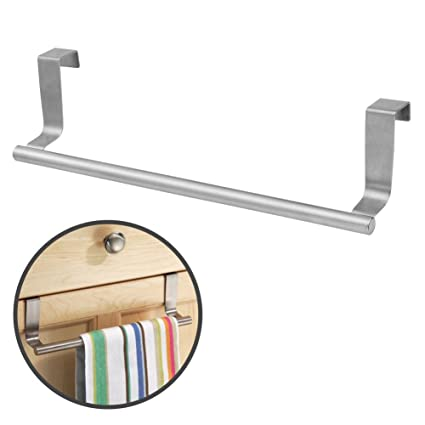 Charmant Over Cabinet Door 14u0026quot; Dish Towel Rack Bar Holder Stainless Steel With  22 Lbs Maximum