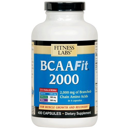 Remise en forme Labs BCAAFit 2000, 400 Capsules