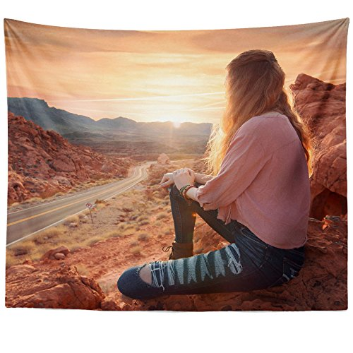 Westlake Art   Wall Hanging Tapestry   Rock Cliff   Photography Home Decor Living Room   51X60in
