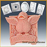 Product review for Handmade Duck - Americana- Detail of High Relief Sculpture - Silicone Soap/sugar/fondant/chocolate/marzipan 2d Mold