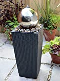 Blagdon Liberty Stainless Steel Sphere and Plinth Patio Water Feature