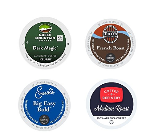 Emeril K-cups (Dark Roast Variety Pack, Green Mountain Dark Magic, Tully's French Roast, Emeril's Big Easy Bold, Coffee Refinery. For Keurig K-cup brewers 96 Count.)