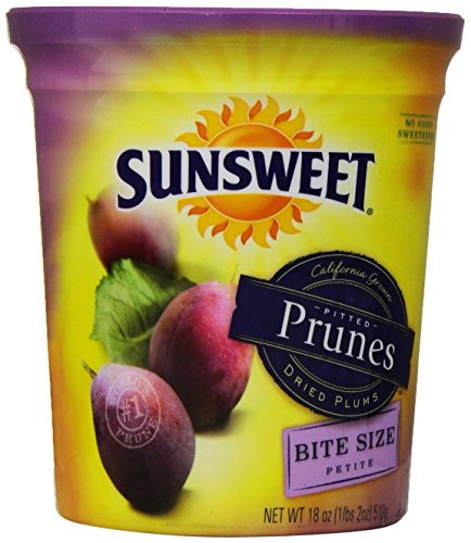 Sunsweet Bite Size Petite Pitted Prunes/dried Plums 18 Oz. - 1 Container