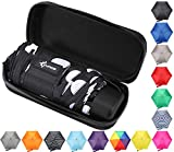 Travel Umbrella with Case - Compact and Light Small Mini Umbrella is perfect for Kids Backpack, Purse, School, Car or Office - Black and White Spots