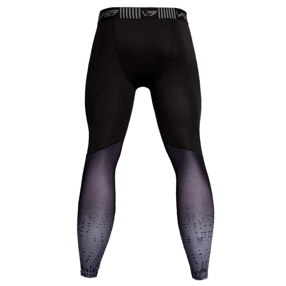 Geetobby Men Leggings Fitness Pant High Elastic Quick-Drying Breathable Trouser