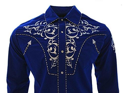 817efd0fcb El General Cowboy Shirt Camisa Vaquera Western Wear Long Sleeve Blue ...