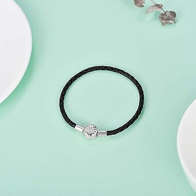 Buy Genuine Charm Bracelet 925 Sterling Silver Snake Chain Bangle Barrel Clasp Jewelry Fit Pandora Charm Birthday Gift For Women Online In Indonesia B08jlf52mk