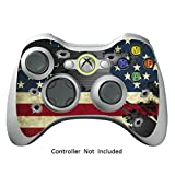 Cheap Skin Stickers for Xbox 360 Controller – Vinyl Leather Texture Sticker for X360 Slim Wired Wireless Game Controllers – Protectors Stickers Controller – Battle Torn Stripes [ Controller Not Included ]