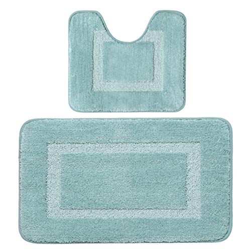 Square Contour Rug (Flamingo P Super Soft Hand Tufted Heavy Weight Construction TPR Rubber Anti-Skid Bottom Bath Mat, Machine Washable Rug for Kitchen Bedroom, 20