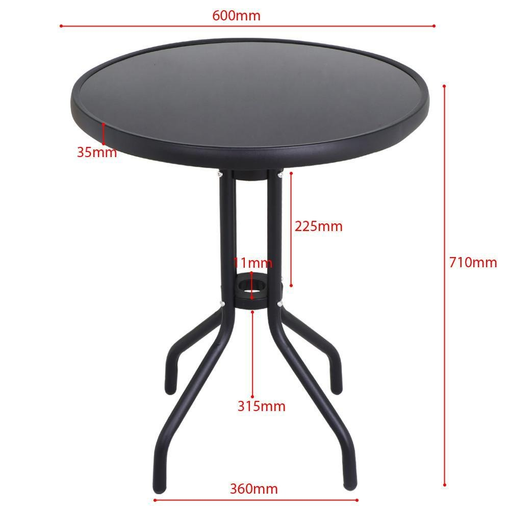 Swell Yaheetech Metal Garden Bistro Table With Glass Top Coffee Dining Table House Patio Public Black Home Remodeling Inspirations Basidirectenergyitoicom
