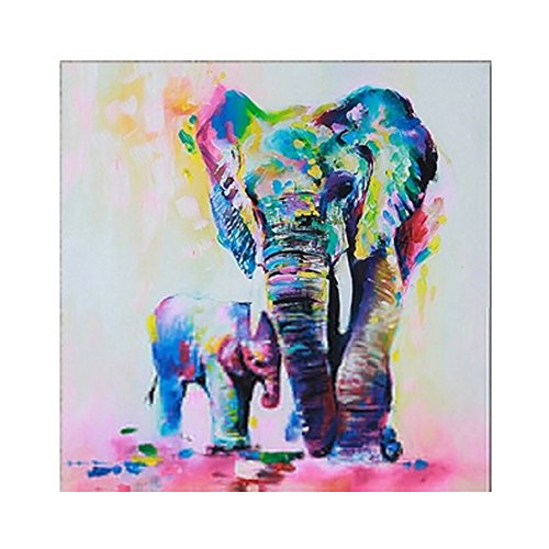Large Elephant Art Wall Painting Decoration Wall Art Printed on Canvas Oil Painting with Stretched and Framed Artwork Paintings on Wall Art Ready to Hang for Living Room Bedroom Home Decorations