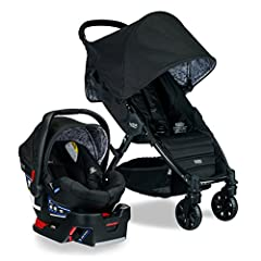 Turn heads on every stroll with the Pathway/B Safe 35 Travel System combining the Britax Pathway Lightweight Stroller, the Britax B Safe 35 Infant Car Seat with base, and the Britax car seat adapters in one convenient box. Both car seat and s...