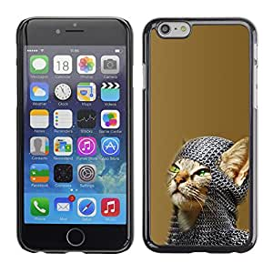 A-type Arte & diseño plástico duro Fundas Cover Cubre Hard Case Cover para Apple (5.5 inches!!!) iPhone 6+ Plus / 6S+ Plus (Chainmail Guerrero Gato)