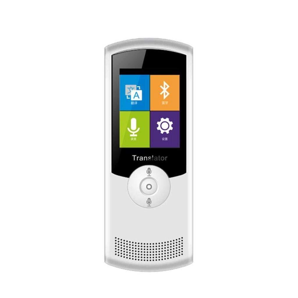 2.4インチの高精細タッチスクリーンを備えたスマート言語翻訳装置は、海外旅行のための双方向42言語翻訳をサポートしています (色 : 白)  白 B07QSRS8Y1