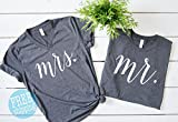 Mr and Mrs, Mr and Mrs shirts, Honeymoon Shirts, Mrs and Mr, Mr and Mrs Shirts, Newlywed Shirts, Just Married, Wedding Shirts
