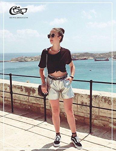 CGID de B UV400 et Polarisées Lunettes Pour MJ74 Soleil Or Or Femmes Réfléchissantes Cateye Modernes Fashion ffxrpnq