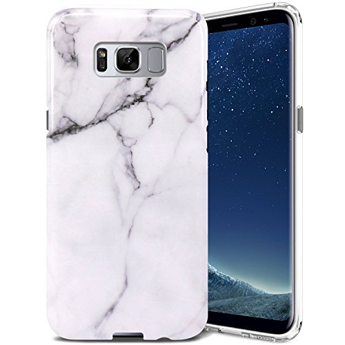 Galaxy S8 Case, ZUSLAB Pattern Design, Slim Shockproof Flexible TPU, Soft Rubber Silicone Skin Cover for Samsung Galaxy S8 (Marble White)