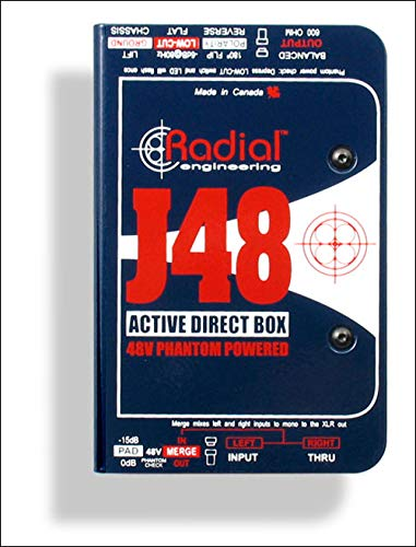 Phantom Powered Di Box - Radial J48 MK2 48V Phantom Power Active Direct Box