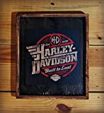 Framed Harley Davidson Wooden Sign