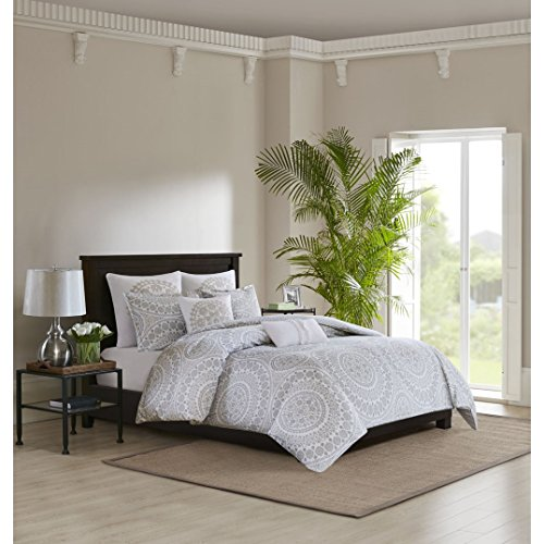 Echo Design Marco Cotton Comforter Set Grey King Marco Comforter Set