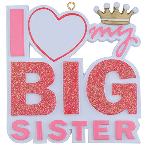 I Love My Big Sister Christmas Gifts (Big Sister Personalized Ornament)