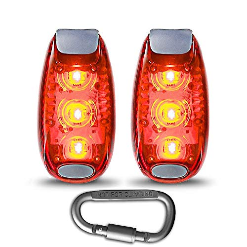 - LED Safety Light Strobe Lights for Runner Walking Bicycle Boat Dog Collar Stroller Night Running, Best Flashing Warning Clip on Small Reflective Light Accessories (Free Bonuses)