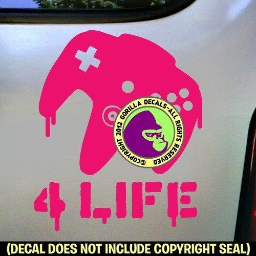 FOR-LIFE-N64-Nintendo-64-Controller-Vinyl-Decal-Sticker-3