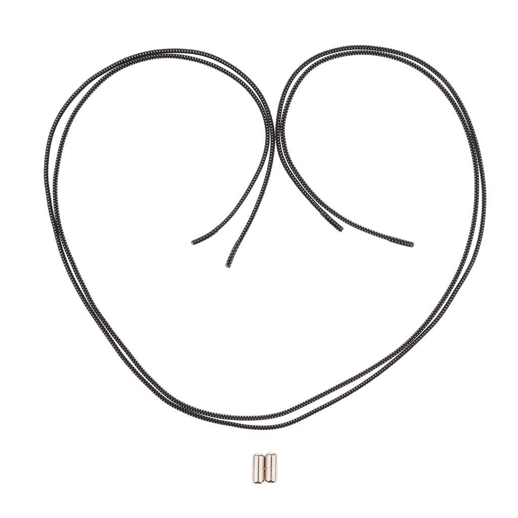 IPOTCH 2 Unids Cordones sin Corbata El/ástico Impermeable con Casquillo de Extremo de Reemplazo