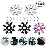 Joatiy 18-in-1 Stainless Steel Snowflakes Multi-Tool Snowflake Tool Card 18-in-1 Multi-Tool Card Compact Snowflake Tool Multi Instrument Snowflake Tool