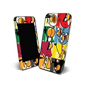 Skin Sticker 3m Cover Phone for Samsung Galaxy Wave 723 (S7230) Protection Skin Design Angry Birds NAB06