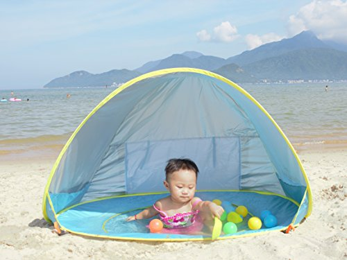 MonoBeach Baby Beach Tent Pop Up Portable Shade Pool UV Protection Sun Shelter For Infant Amazoncouk Sports Outdoors