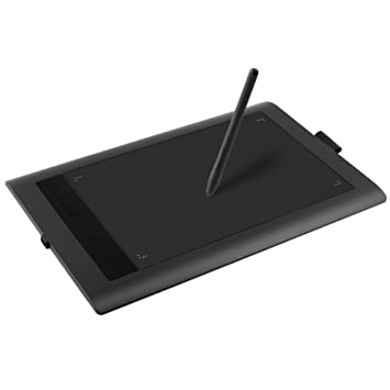 Ugee HK1060 Drawing Graphics Tablet 10x6 with 8 Express Keys (5080 LPI 230 RPS 2048 Levels) Windows & Mac - UK Stock