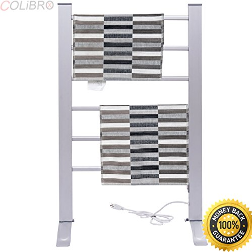COLIBROX--2-in-1 Freestanding Wall Mounted Electric Towel Rail Rack Bathroom Warmer Heated. wall mounted towel warmer. towel warmer bed bath and beyond. brookstone towel warmer (Wall Mounted Electric Towel Rail)