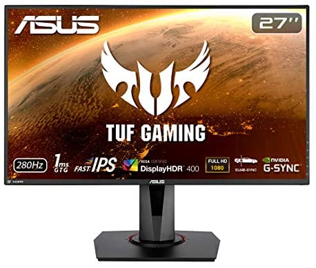"Amazon.com: ASUS TUF Gaming VG279QM 27"" HDR Monitor, 1080P Full HD (1920 x 1080) Fast IPS, 280Hz, G-SYNC Compatible, Extreme Low Motion Blur Sync (ELMB SYNC) 1ms, DisplayHDR 400, Eye Care, DisplayPort"