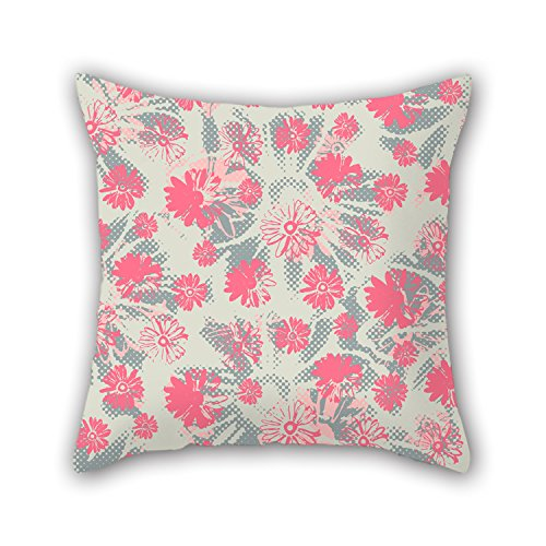 Loveloveu Flower Christmas Pillow Covers 20 X 20 Inches / 50 By 50 Cm Best Choice For Bar Kids Teens Girls Deck Chair Divan Bedding With 2 Sides