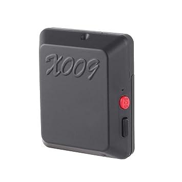 Losenlli Ajuste X009 Tracker GPRS con Mini cámara de vigilancia Audio Video Monitor DV Soporte de Tarjeta SIM Posicionador antirrobo SOS: Amazon.es: ...