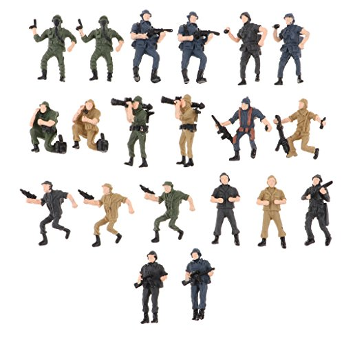 SM SunniMix 約20個 兵士モデル モデルフィギュア レイアウト ジオラマ 装飾 全2サイズ - 1:75スケールの商品画像