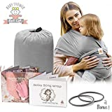 Lazy Monk Baby Wrap Carrier Sling | Soft Infant