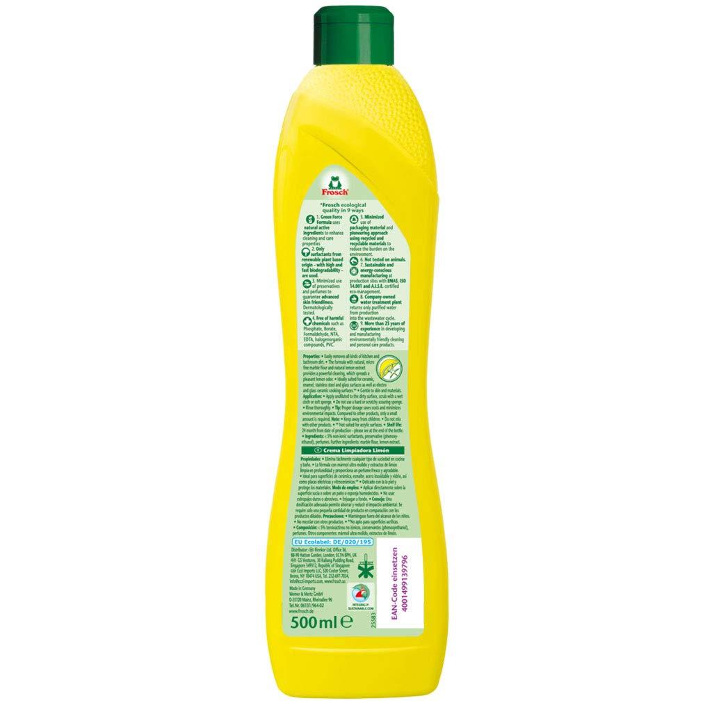 Amazon.com: Frosch - Limpiador de crema de limón natural ...