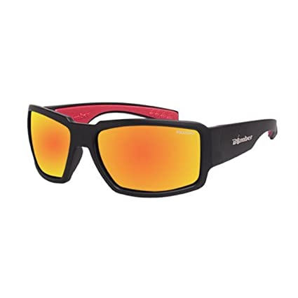 5bdb112b87 Amazon.com  Bomber - Boogie Bomb  Matte Black Frame Revo Red Mirror ...