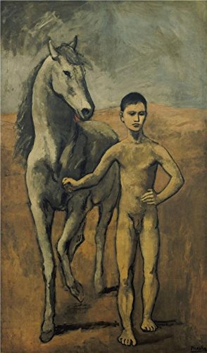 Perfect Effect Canvas ,the Beautiful Art Decorative Prints On Canvas Of Oil Painting 'Pablo Picasso-Boy Leading A Horse,1906', 8x14 Inch / 20x35 Cm Is Best For Garage Decor And Home Decoration And Gifts