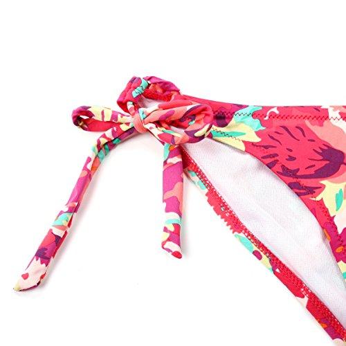 Colloyes - Conjunto - para mujer Floral Rojo