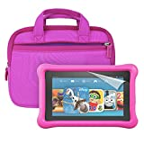 "Fire Kids Edition Essentials Bundle including Fire Kids Edition, 7"" Display, Wi-Fi, 16 GB, Pink Kid-Proof Case, Nupro Screen Protector and Verso Sleeve"