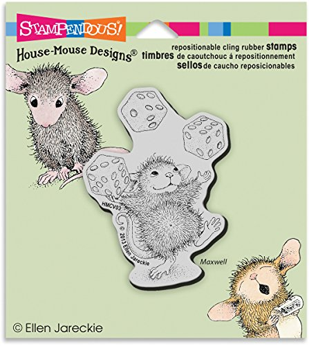 House Mouse Juggling Dice Cling Rubber Stamp 3.5